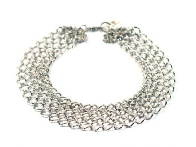 Silver posh dog chain jewelry