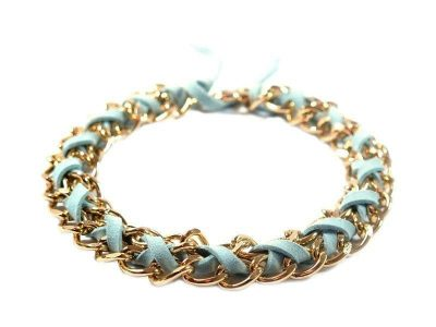 jewelry for dogs chic gold chain sky blue