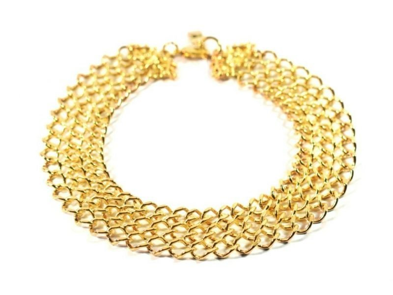 Gold dog jewelry chain chic