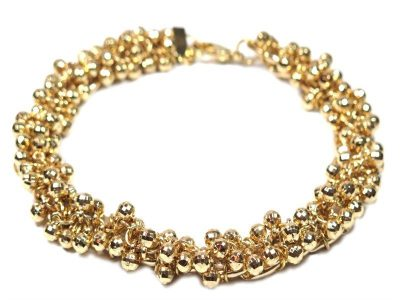 gold sparkle chain jewelry for dogs