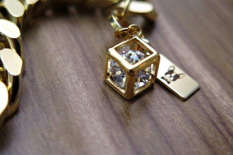 Gold diamong Charm