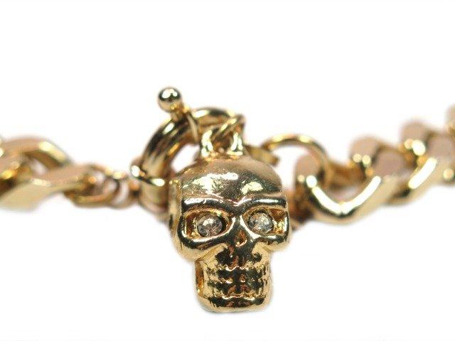 Gold Dog Skull