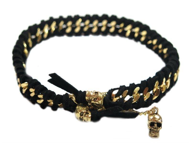 Mittsuami black skulls skull necklace french bullevard