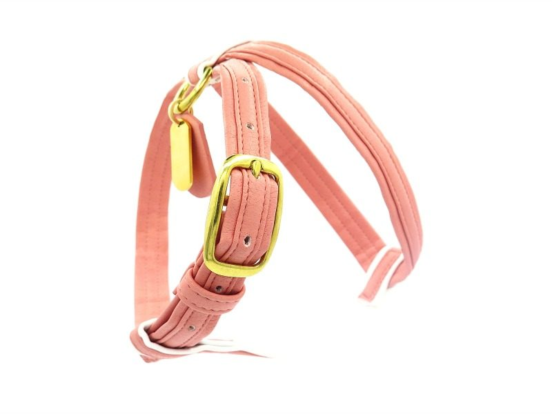pink blue french bulldog harness