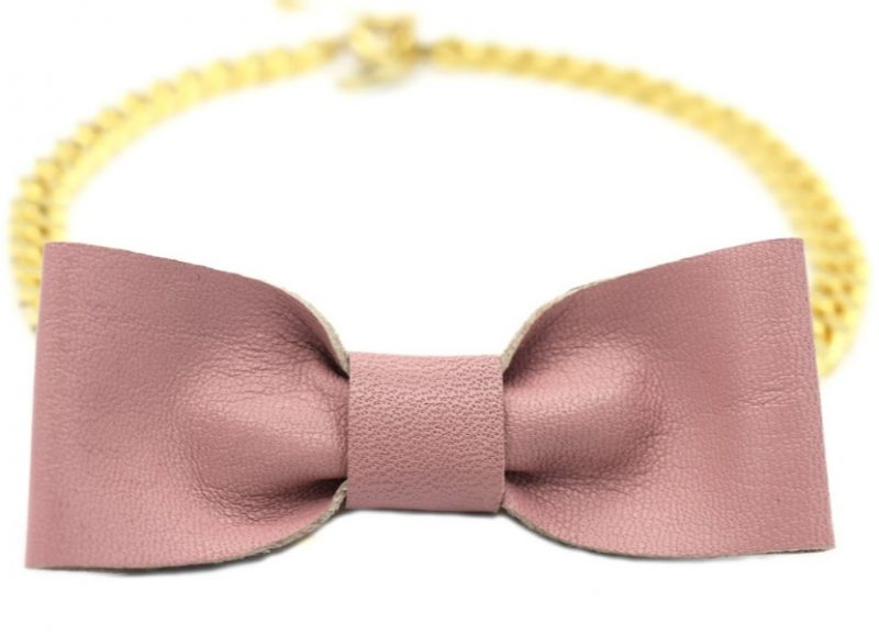 bowtie frenchie necklace
