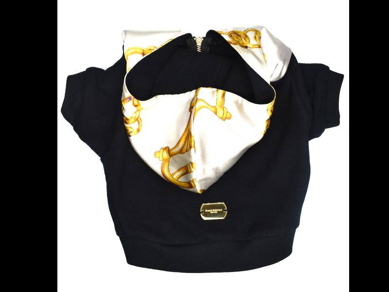 black french bulldog hoodie