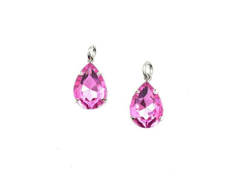 pink cristal pendant silver (1)