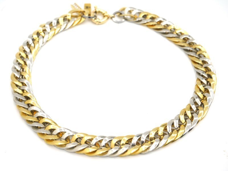 french bulldog chain silver and gold